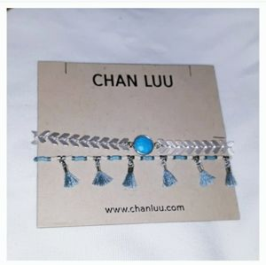 CHAN LUU SILVER AND TURQUOISE BRACELET